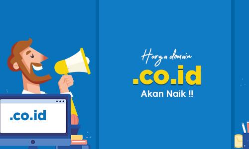 Harga Domain .CO.ID di tahun 2020 Naik Hampir 3x Lipat