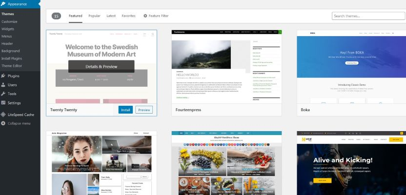 Cara Install Themes Pada Blog WordPress
